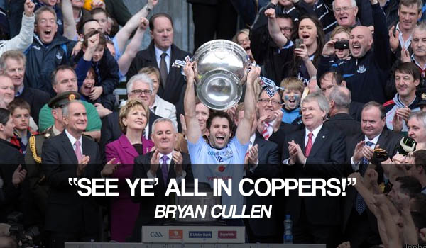 Bryan Cullen Dublin GAA All Ireland Coppers
