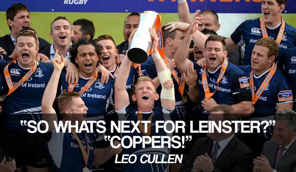 Leo Cullen Leinster Rugby Coppers