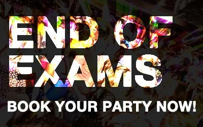 End of Exams Party Bookings at Coppers